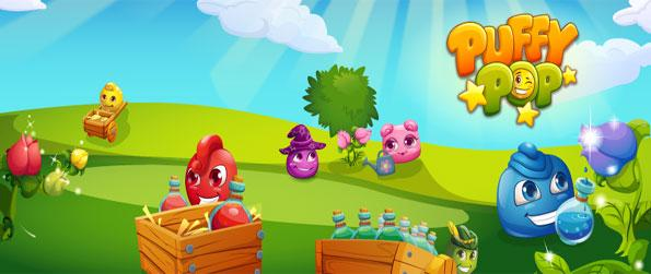 Puffy Pop - Disfrute de un divertido y lindo juego de match 3 gratis en Facebook.